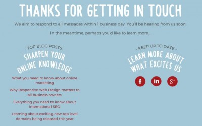 How Do You Thank Visitors To Your Website?