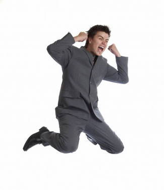 Image of man jumping in the air
